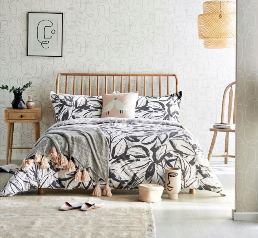 Scion Padua Charcoal Bedding