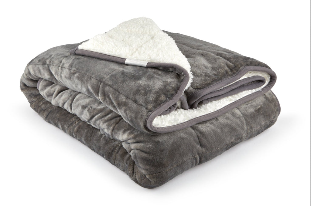 S Green & Sons Weighted Sherpa 150cm x 200cm Blanket