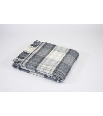 Tweedmill Cottage Check Grey Throw