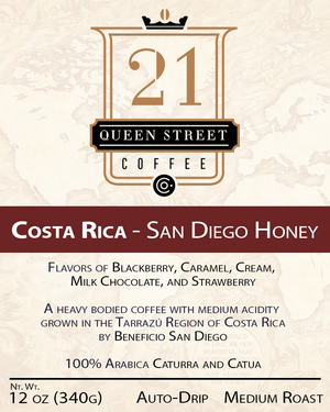 Costa Rica San Diego Honey