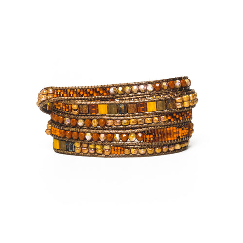 Pumpkin Mix Five-Wrap Bracelet