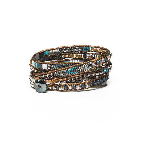 Slate Mix Five-Wrap Bracelet