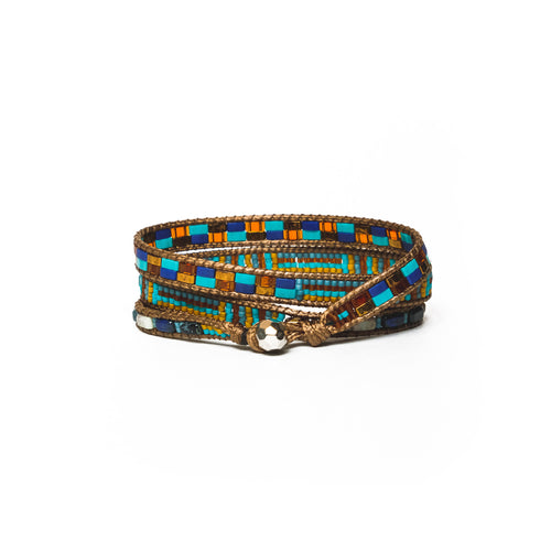 Turquoise Multi Prema Three-Wrap Bracelet