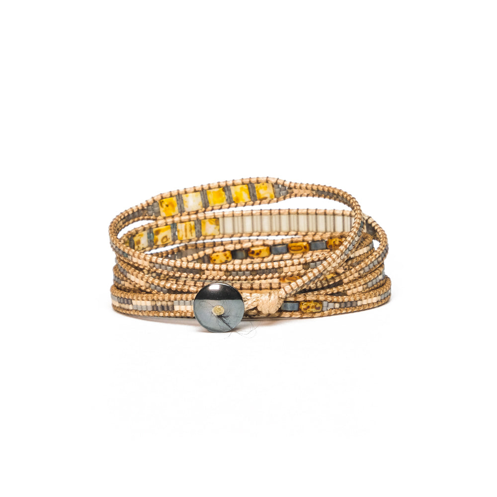 Salmon Toni Five-Wrap Bracelet