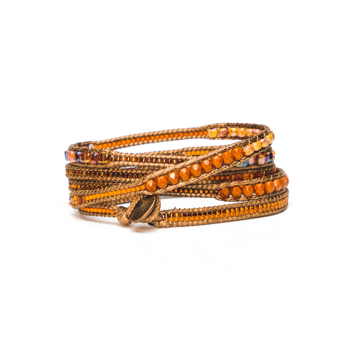 Pumpkin Toni Five-Wrap Bracelet