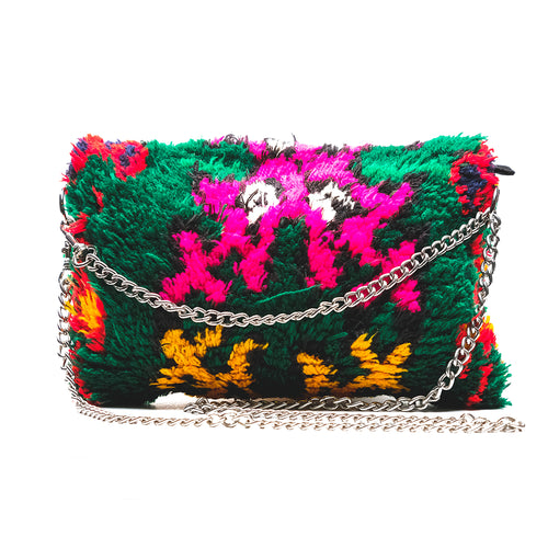 Green and Pink Clutch