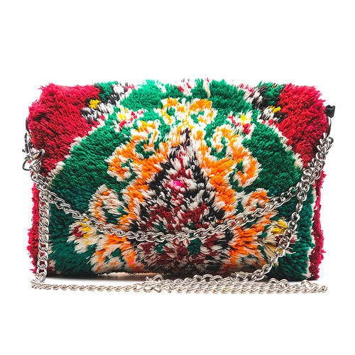 Maroon and Green Clutch