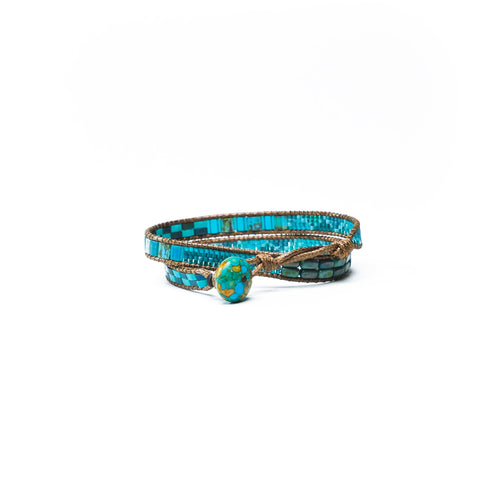 Turquoise Elsa Convertible Choker Necklace/Wrap Bracelet