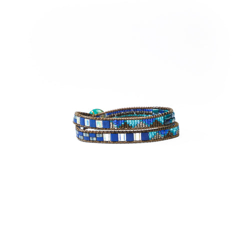 Lapis Elsa Convertible Choker Necklace/Wrap Bracelet