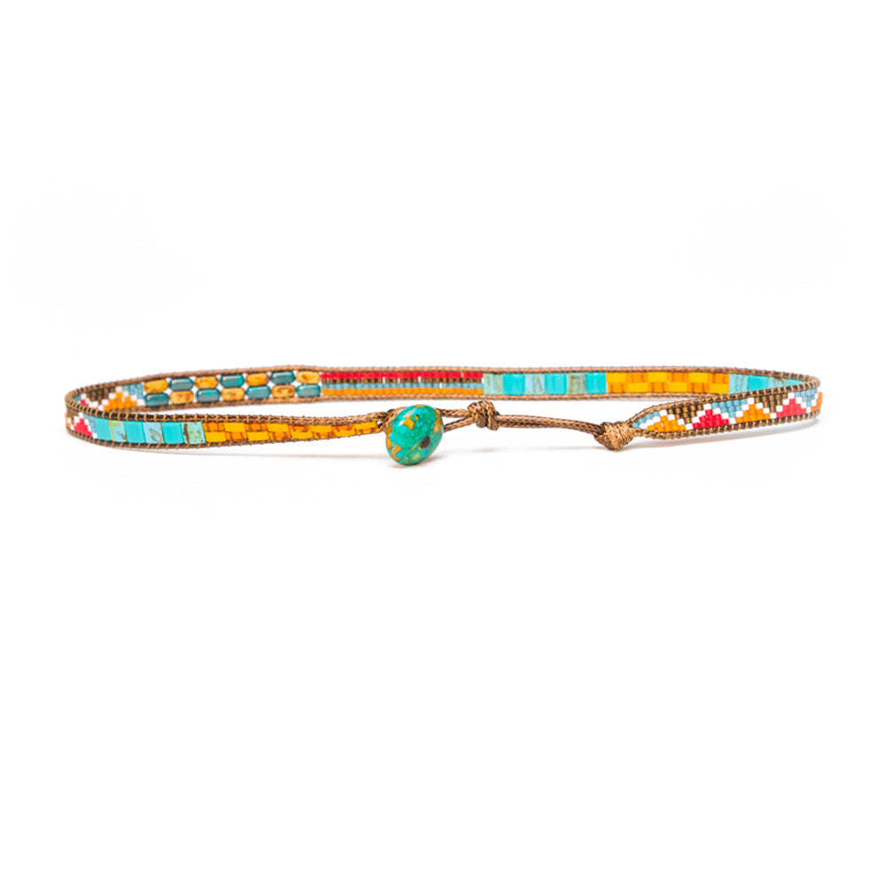 Multicolor Elsa Convertible Choker Necklace/Wrap Bracelet