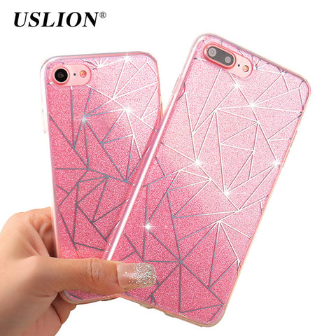 USLION Bling Glitter Case For iPhone 7 6 6s Plus