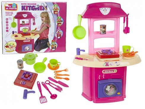 Kids Kitchen Set with Washer and Cooker