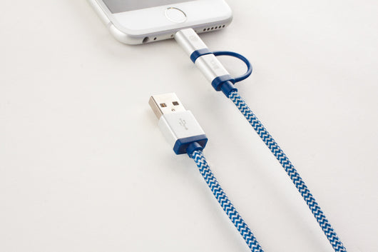 2 in 1 Android & Apple Compatible Braided USB Cable | IIVO Switch