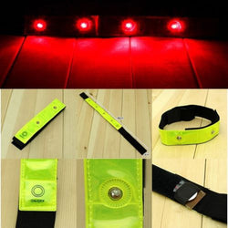 2pc 4 LED Reflective Safety Bands