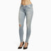 Buy the Best Ripped Jeans for Women.  These are Designer Jeans with light wash Denim.