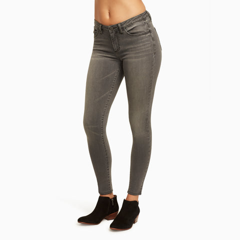 These are Skinny Fit Ankle Grazer Jeans with a Slim Fit for Women