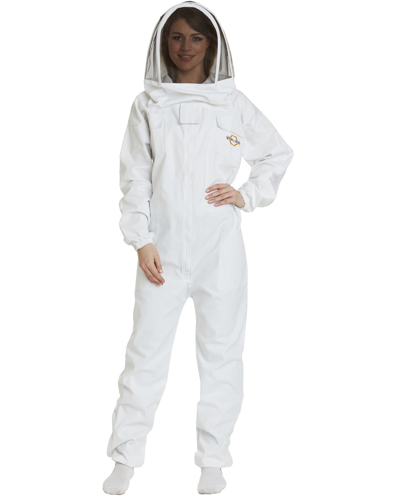 Apiarist Beekeeping Suit - Polycotton - Non-Flammable Fencing Veil - Beginner Beekeeper