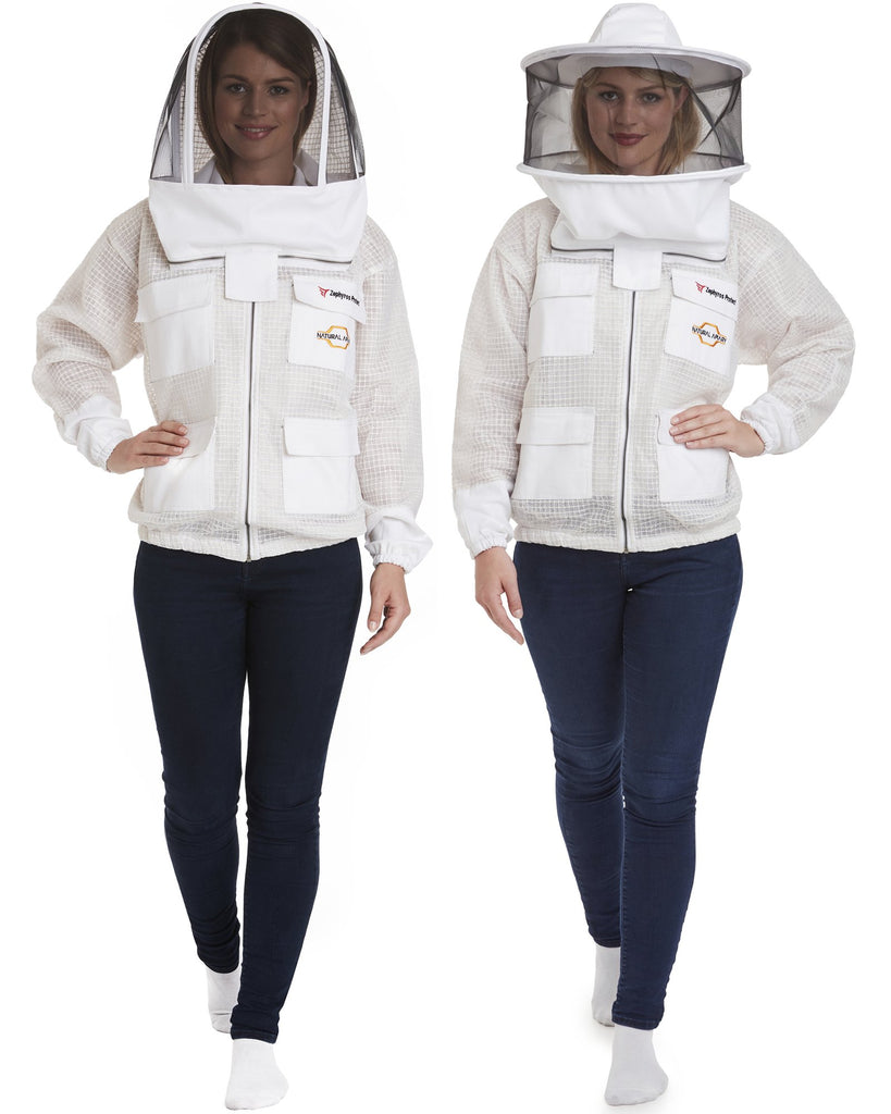 Zephyros - 3 Layer Ventilated Beekeeping Jacket with 2 veils Round & Fencing - Stay Cool & Protected