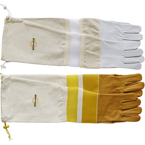 ADJUSTABLE Beekeeping Gloves - Ventilated  Sleeves - Sting Proof Cuffs