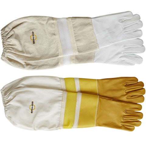 VENTILATED SLEEVES Beekeeping Gloves - Sting Proof Cuffs