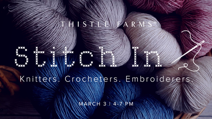 Join Us for Our 1st Stitch-In