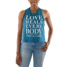 Love Heals Every Body Crop Tank