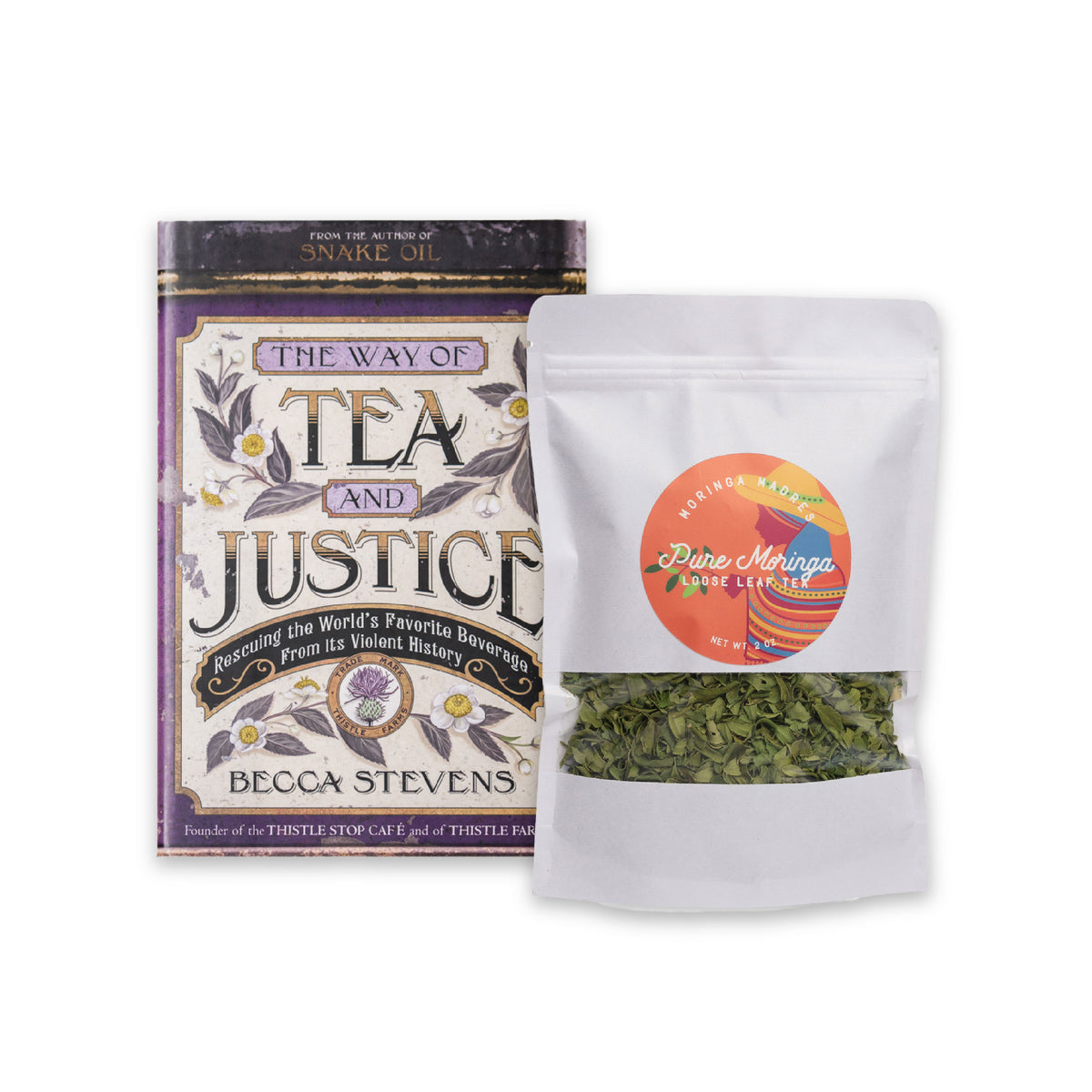 The Way of Tea and Justice Book + Moringa Tea