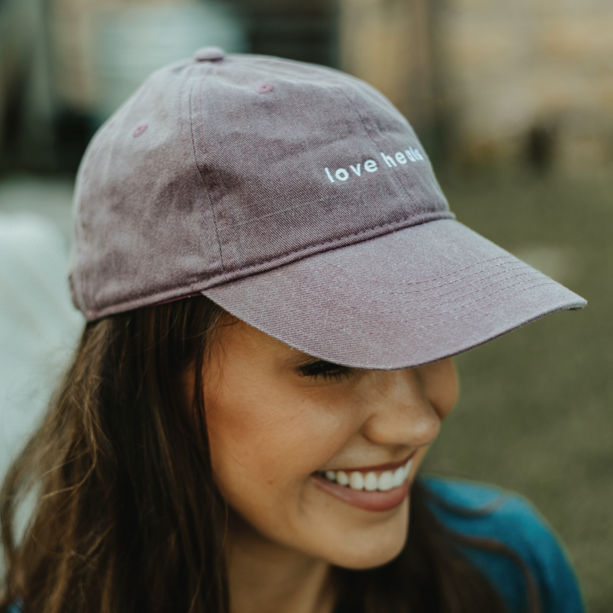 Love Heals Burgundy Hat