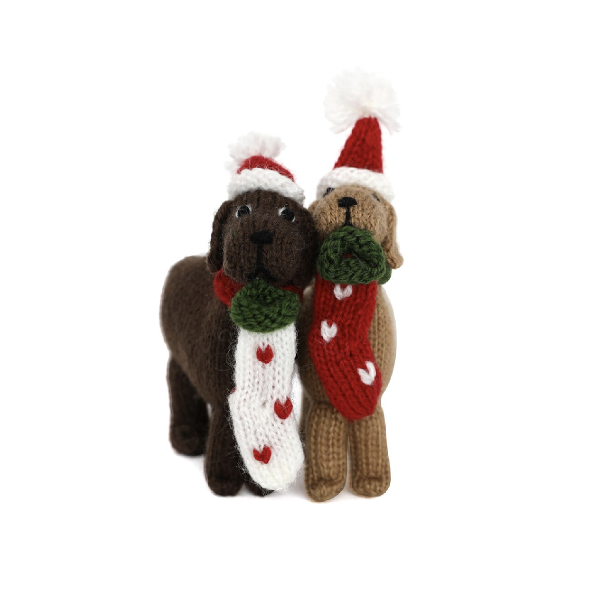 Dog with Stocking Ornament