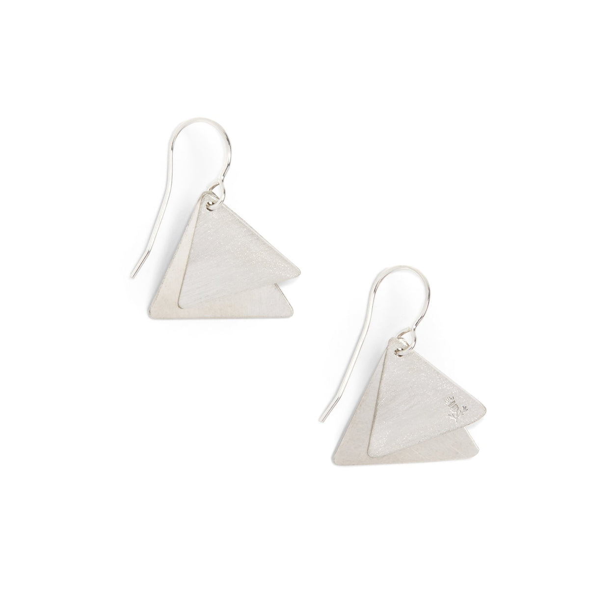 Thistle Triangle Earrings