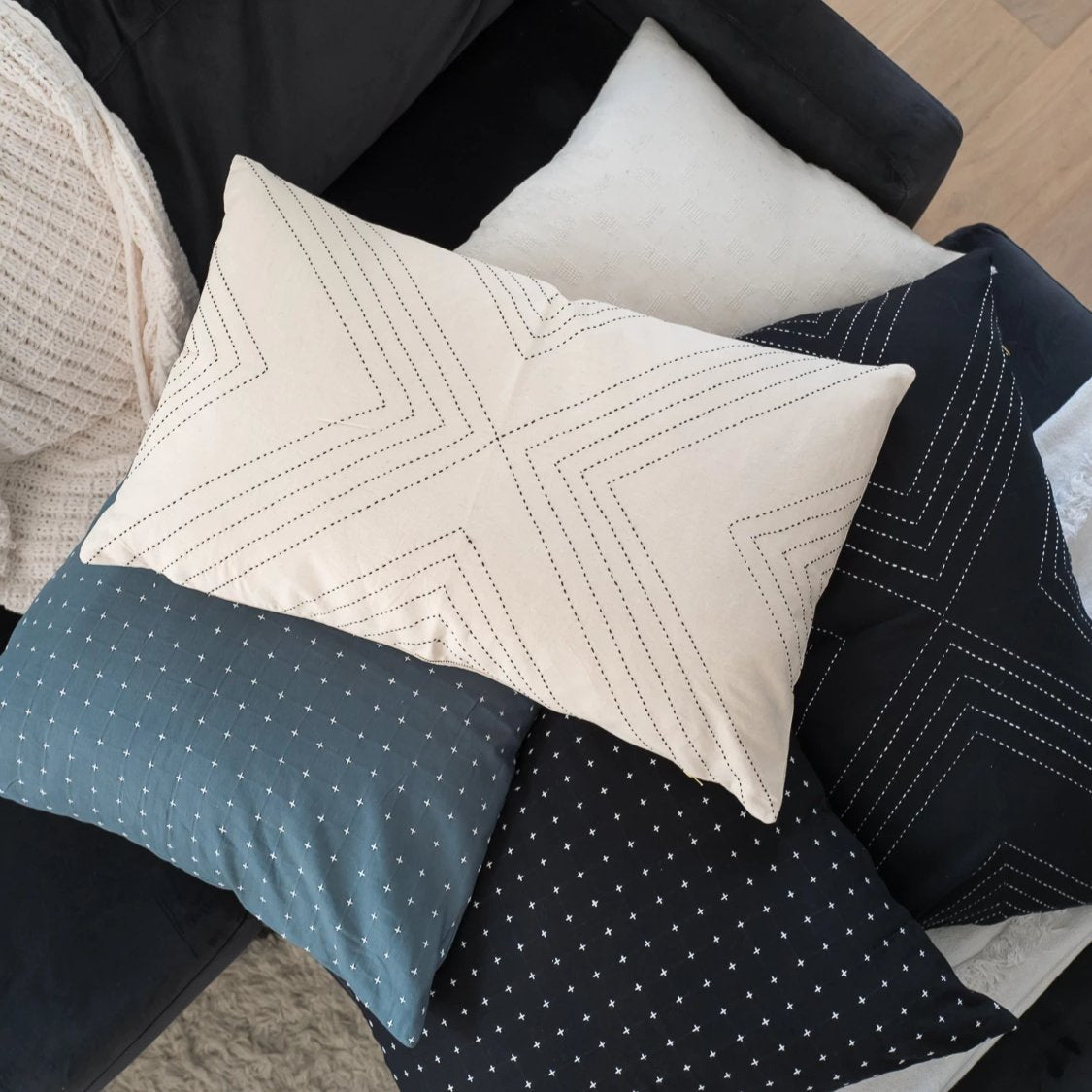 Geometric Lumbar Pillow Case