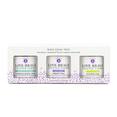 Thistle Farms Bath Soak Trio in packaging box, front view