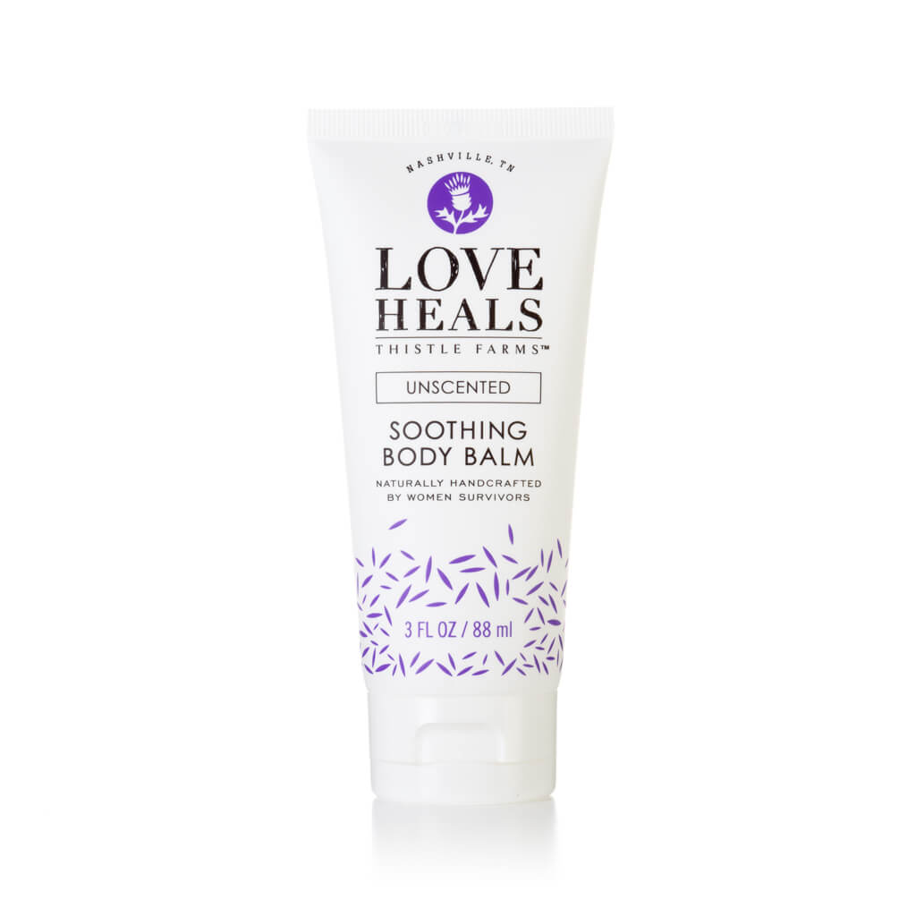 Thistle Farms Unscented Soothing Body Balm tube, front view