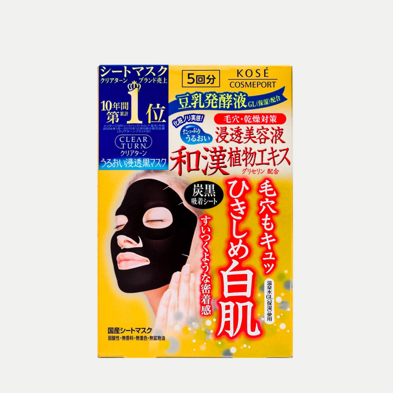 Clear Turn Charcoal Face Mask