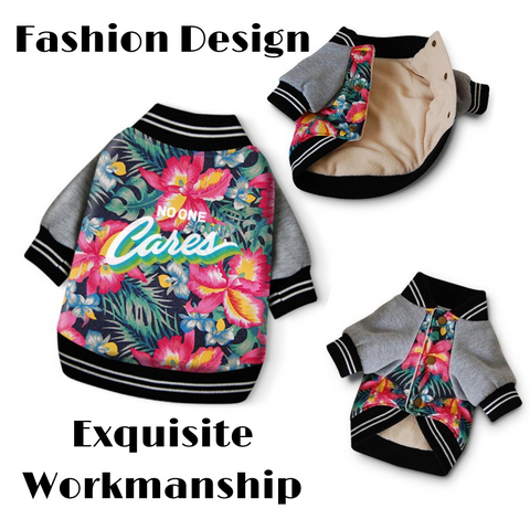 Hawaiian Shirts style Bomber Jacket for Dogs and Cats Fashion Design | Posh Pick Me Ups