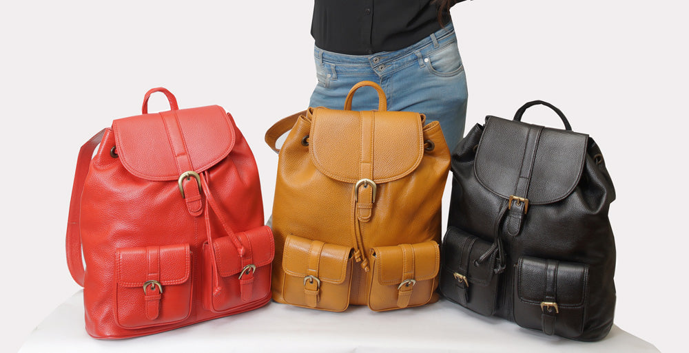 leather backpacks collection