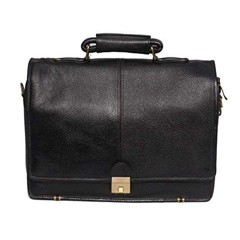 Riddle Leather Bag, Black - ZipperNext