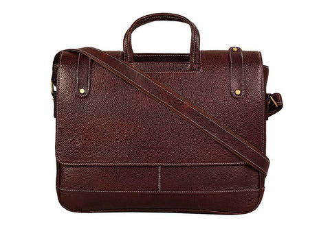 Brown Designed Leather Bag - ZipperNext