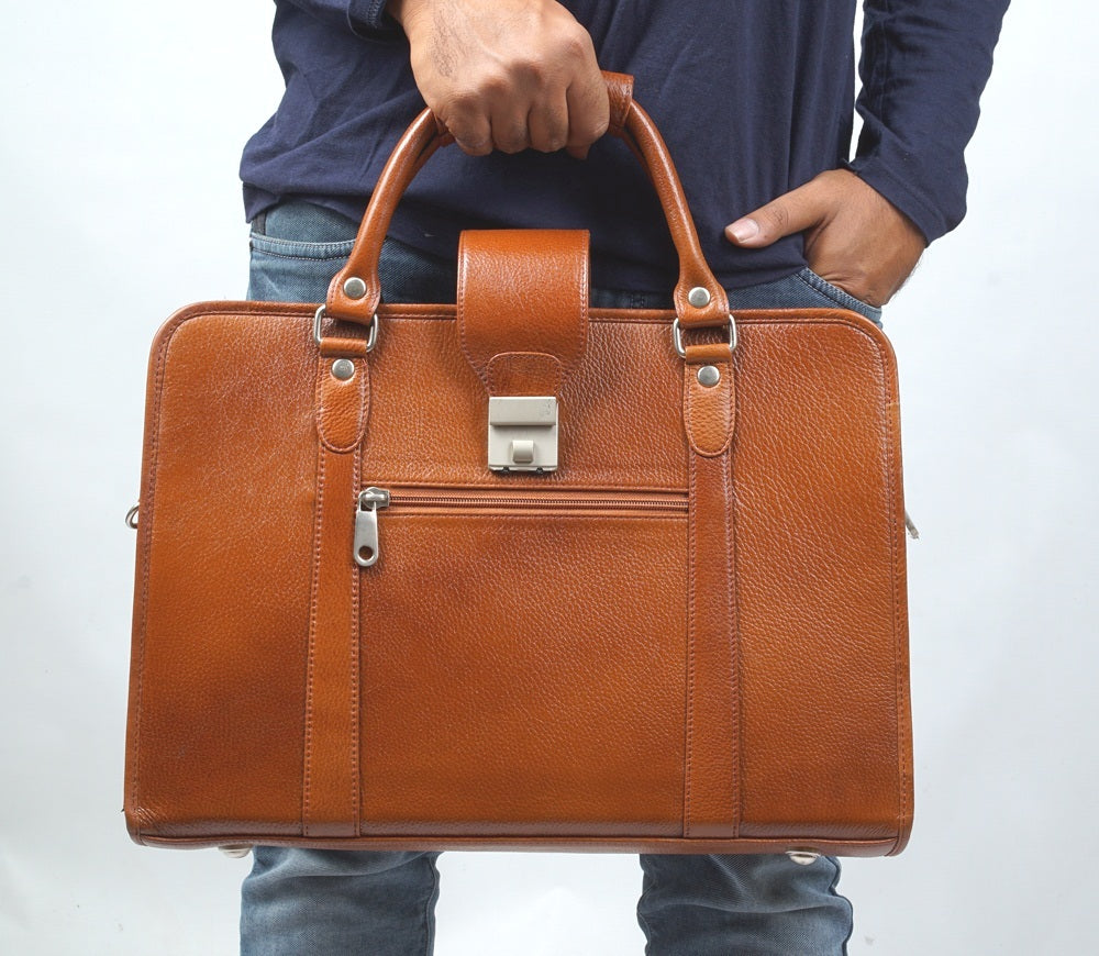3996f5adc3b9 Leather Briefcase Laptop Bag