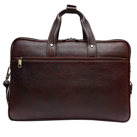 Large Leather Briefcase - ZipperNext