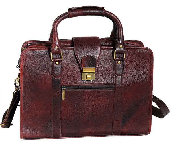 Classical Leather Briefcase - ZipperNext