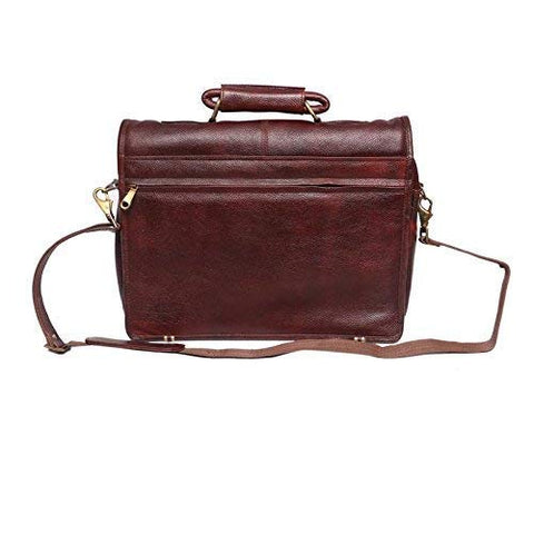 Riddle Leather Bag, Brown - ZipperNext