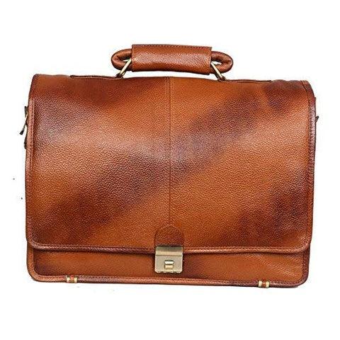 Riddle Leather Bag, Tan - ZipperNext