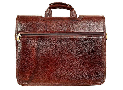 Leather Portfolio Bag - ZipperNext