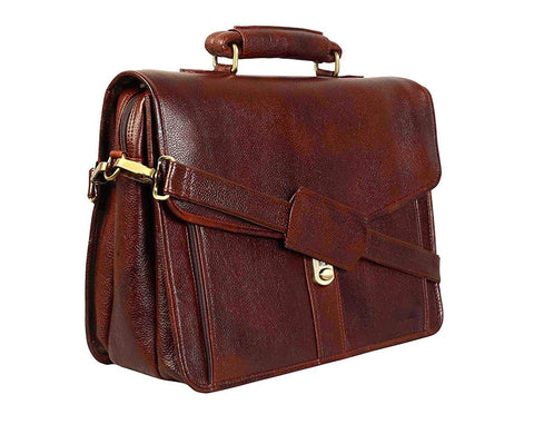 Leather Crossbody Bag, Brown - LC052 - ZipperNext