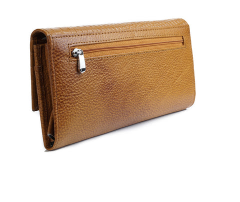Leather Clutch Wallet - ZipperNext