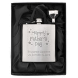 Personalised 'Happy Father's Day' Hip Flask