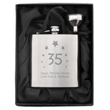 Personalised Stars 'Any Age' Hip Flask