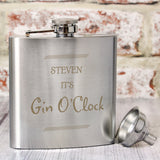 Personalised 'Any Message' Border Hip Flask