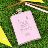 Personalised 'Paw Me Another' Hip Flask
